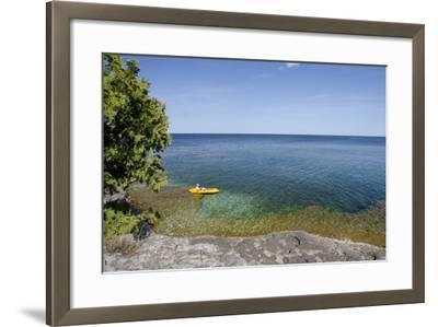 Cave Point County Park, Lake Michigan, Door County, Wisconsin, USA-Cindy Miller Hopkins-Framed Photographic Print