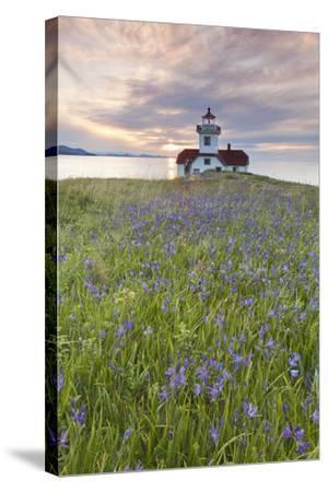 Sunset on Patos Island Lighthouse, San Juan Islands, Washington, USA-Jaynes Gallery-Stretched Canvas Print
