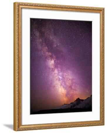 Milky Way (Constellation Sagittarius), Mt Rainier NP, Washington, USA-Gary Luhm-Framed Photographic Print