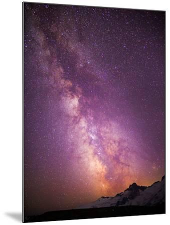 Milky Way (Constellation Sagittarius), Mt Rainier NP, Washington, USA-Gary Luhm-Mounted Photographic Print