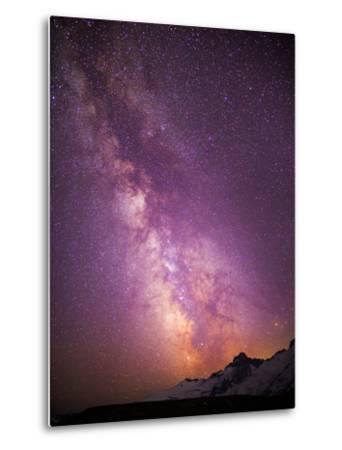 Milky Way (Constellation Sagittarius), Mt Rainier NP, Washington, USA-Gary Luhm-Metal Print