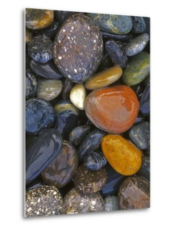 Stones, Lopez Island, Agate Beach County, Washington, USA-Charles Gurche-Metal Print