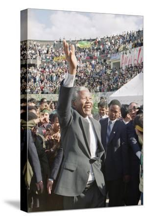 Nelson Mandela in Japan-Itsuo Inouye-Stretched Canvas Print