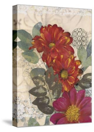 Japonesque Daisies-Matina Theodosiou-Stretched Canvas Print