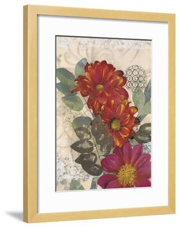Japonesque Daisies-Matina Theodosiou-Framed Art Print