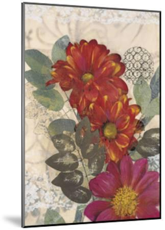 Japonesque Daisies-Matina Theodosiou-Mounted Art Print