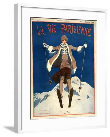 1920s France La Vie Parisienne Magazine Cover--Framed Giclee Print