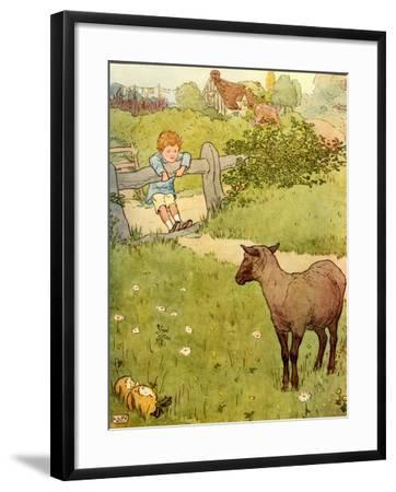 USA Baa Baa Black Sheep Book Plate--Framed Giclee Print