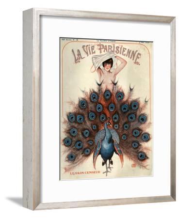 1920s France La Vie Parisienne Magazine Cover--Framed Premium Giclee Print