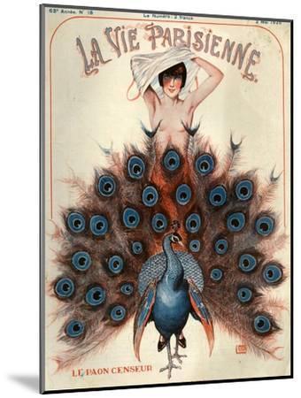 1920s France La Vie Parisienne Magazine Cover--Mounted Premium Giclee Print