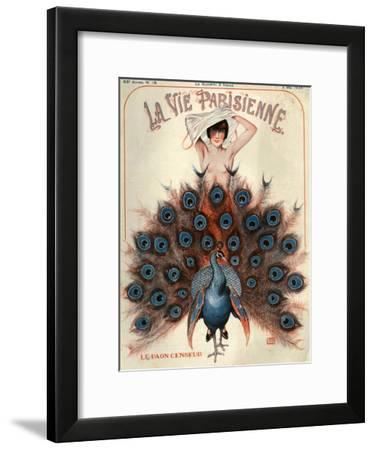1920s France La Vie Parisienne Magazine Cover--Framed Giclee Print