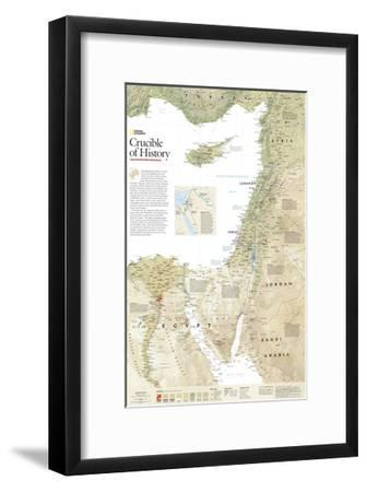 2008 Crucible of History, the Eastern Mediterranean-National Geographic Maps-Framed Art Print