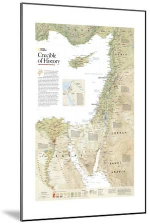 2008 Crucible of History, the Eastern Mediterranean-National Geographic Maps-Mounted Art Print
