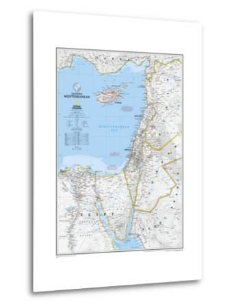 2008 Eastern Mediterranean Map-National Geographic Maps-Metal Print