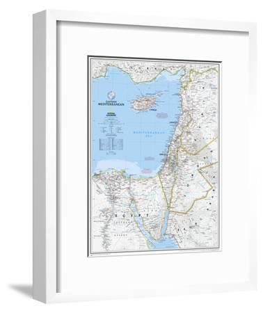 2008 Eastern Mediterranean Map-National Geographic Maps-Framed Art Print