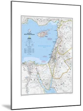 2008 Eastern Mediterranean Map-National Geographic Maps-Mounted Art Print