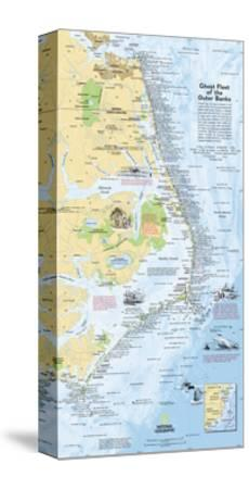2008 Ghost Fleet of the Outer Banks 1970 Map-National Geographic Maps-Stretched Canvas Print