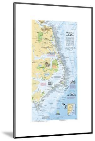 2008 Ghost Fleet of the Outer Banks 1970 Map-National Geographic Maps-Mounted Premium Giclee Print
