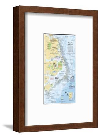 2008 Ghost Fleet of the Outer Banks 1970 Map-National Geographic Maps-Framed Premium Giclee Print