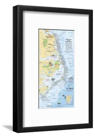 2008 Ghost Fleet of the Outer Banks 1970 Map-National Geographic Maps-Framed Art Print