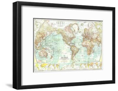 1957 World Map Art Print By National Geographic Maps Art Com