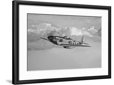 A P-51D Mustang in Flight Near Hollister, California--Framed Photographic Print