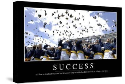 Success: Inspirational Quote and Motivational Poster--Stretched Canvas Print