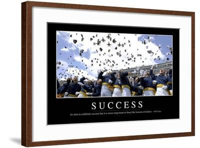 Success: Inspirational Quote and Motivational Poster--Framed Photographic Print