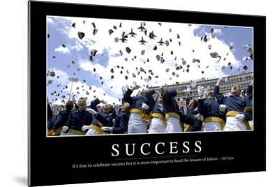 Success: Inspirational Quote and Motivational Poster--Mounted Photographic Print
