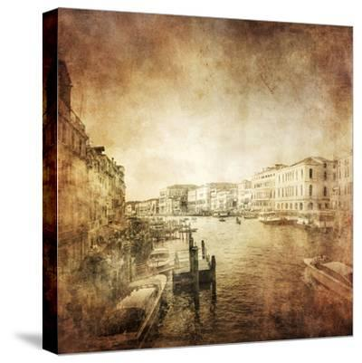 Vintage Photo of Grand Canal, Venice, Italy--Stretched Canvas Print