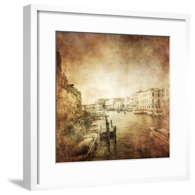 Vintage Photo of Grand Canal, Venice, Italy--Framed Photographic Print