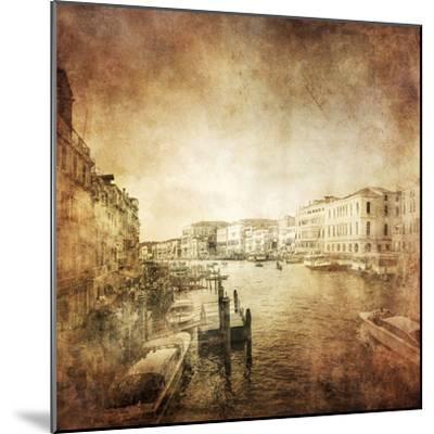 Vintage Photo of Grand Canal, Venice, Italy--Mounted Photographic Print