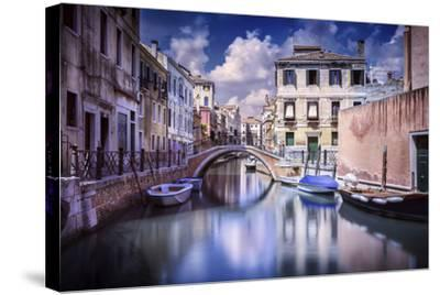 Venetian Canal, Venice, Italy--Stretched Canvas Print