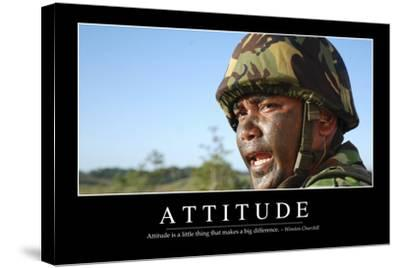 Attitude: Inspirational Quote and Motivational Poster--Stretched Canvas Print
