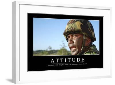 Attitude: Inspirational Quote and Motivational Poster--Framed Photographic Print
