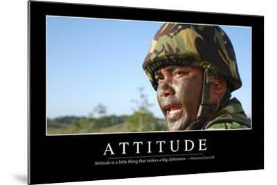 Attitude: Inspirational Quote and Motivational Poster--Mounted Photographic Print