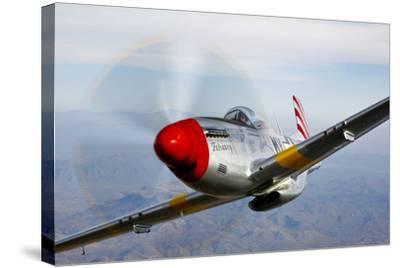 A P-51D Mustang in Flight Near Prescott, Arizona--Stretched Canvas Print