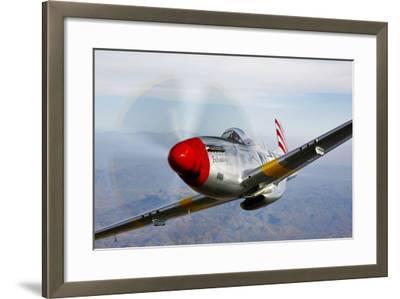 A P-51D Mustang in Flight Near Prescott, Arizona--Framed Photographic Print
