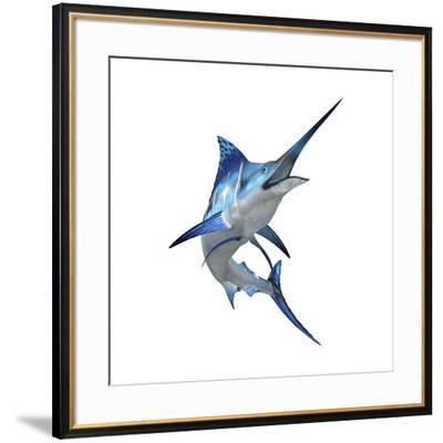 Blue Marli--Framed Art Print