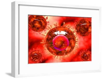 Group of H5N1 Virus with Glassy View--Framed Art Print