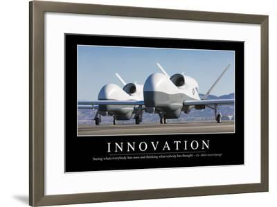 Innovation: Inspirational Quote and Motivational Poster--Framed Photographic Print