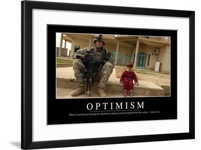 Optimism: Inspirational Quote and Motivational Poster--Framed Photographic Print
