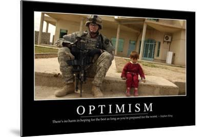 Optimism: Inspirational Quote and Motivational Poster--Mounted Photographic Print