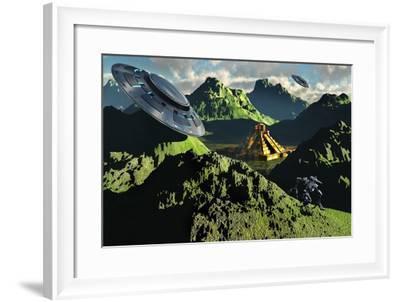 The Legendary South American Golden City of El Dorado in the Summer--Framed Art Print