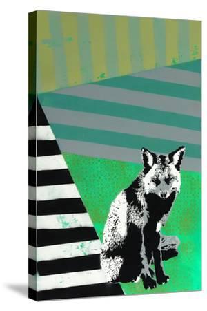 Black Fox-Urban Soule-Stretched Canvas Print