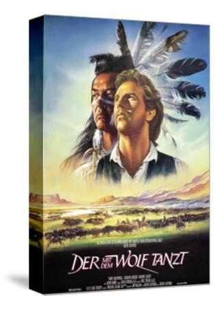 Dances with Wolves--Stretched Canvas Print