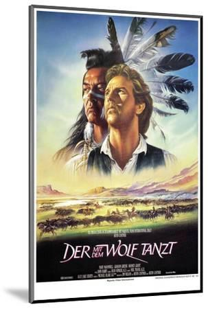 Dances with Wolves--Mounted Art Print