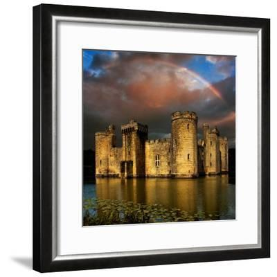 Moods over Bodiam-Adrian Campfield-Framed Photographic Print