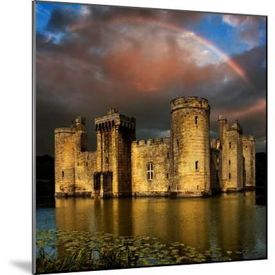 Moods over Bodiam-Adrian Campfield-Mounted Photographic Print
