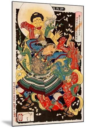 Toki Motosada, Hurling a Demon King, Thirty-Six Transformations-Yoshitoshi Tsukioka-Mounted Giclee Print